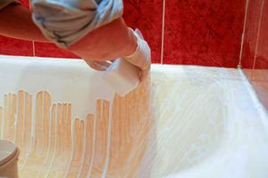 Как нанести акриловую краску на ванну