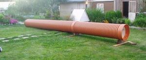 Ремонт колодца с применением пластиковых труб.