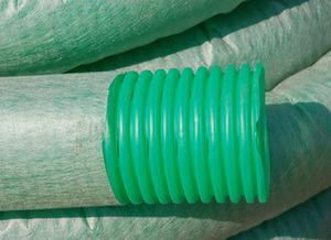 Труба дренажная гофрированная перфорированная с геотканью