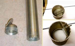 Внешний клапан желонки выглядит следующим образом.
