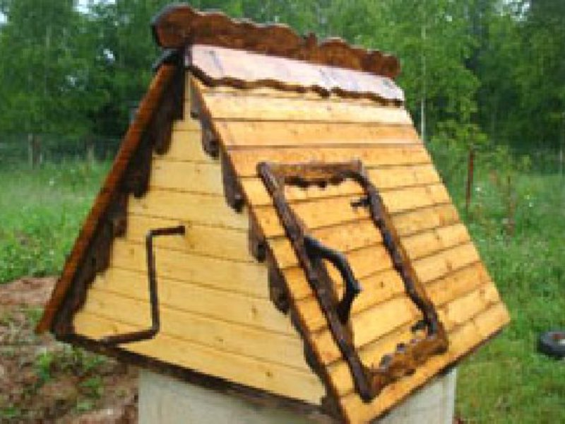 деревянный домик для колодца термобелья Следует отметит
