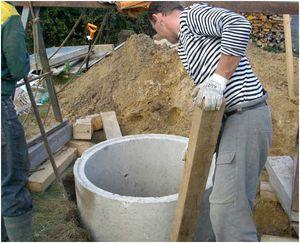 Однокамерный септик из бетонных колец своими руками