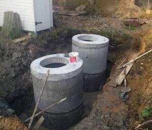 Видео по монтаж канализации из жб колец