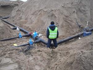 Прокладка наружных сетей канализации
