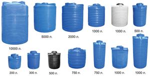 Емкости для воды могут быть разными.