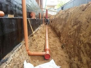 Устройство дренажной системы водоотвода от фундамента зданий